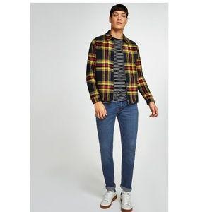 Topman skinny stretch medium wash jean button fly